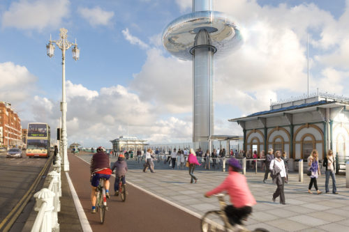British Airways i360: a Brighton apre la torre panoramica mobile più alta del mondo