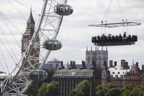 London in The Sky: cenare sospesi in aria a Londra sarà possibile!