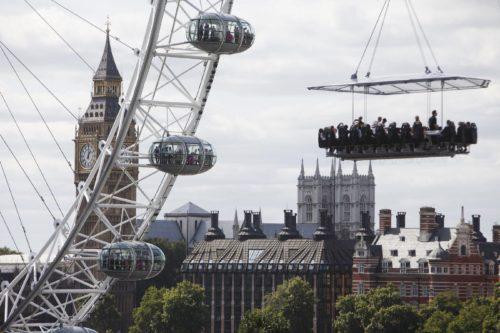 London in The Sky: cenare sospesi in aria a Londra sarà possibile!