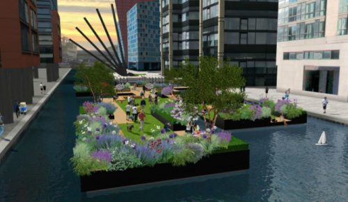 The Floating Pocket Park: un nuovo parco galleggiante aprirà a Londra