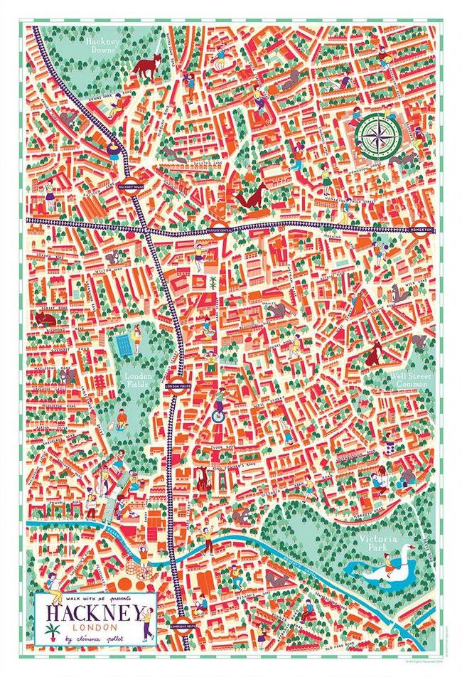 Illustrated-Map-of-Hackney