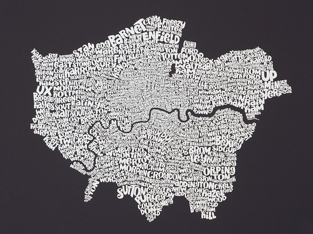 Typographic-Map-Of-London